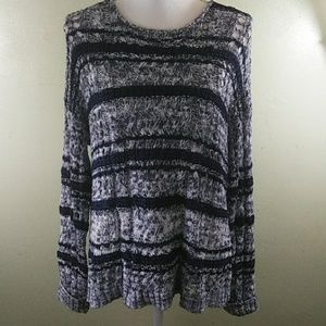 Lacy Knit Oversized Blue Sweater L EUC